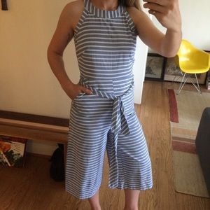 Pants - striped linen jumpsuit